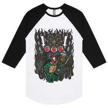 Load image into Gallery viewer, Black Metal Ninja Turtles - 3/4 Sleeve Raglan