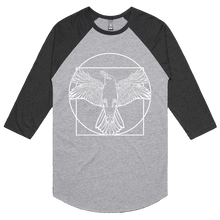 Load image into Gallery viewer, Vitruvian I (White Print) - 3/4 Sleeve Raglan