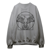Load image into Gallery viewer, Vitruvian Crow I (Black Print) - Sweatshirt