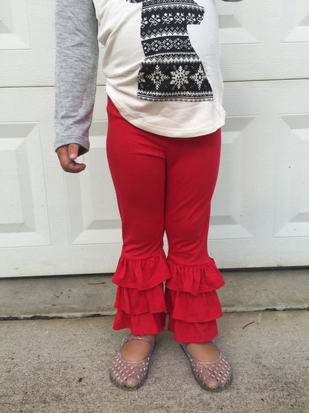 Ruffle Pants (Red)