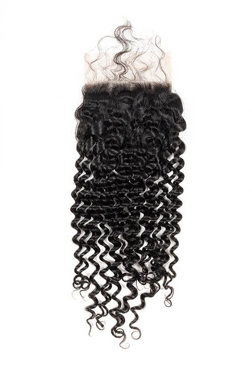 Virgin Brazilian Curly Lace Closure - True Glory Hair