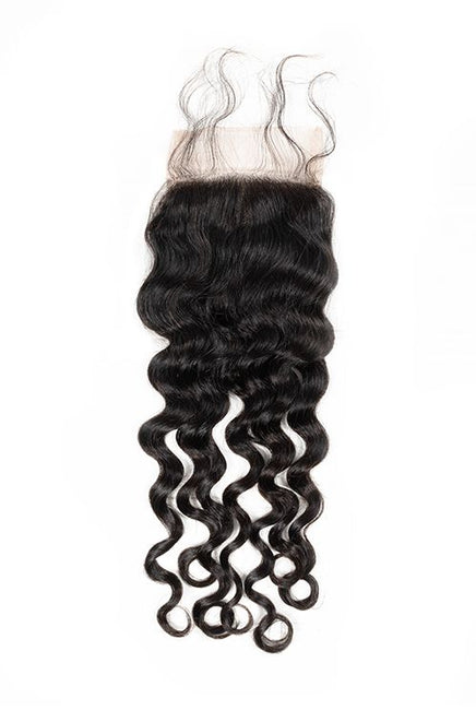 Virgin Brazilian Deep Wave Lace Closure - True Glory Hair