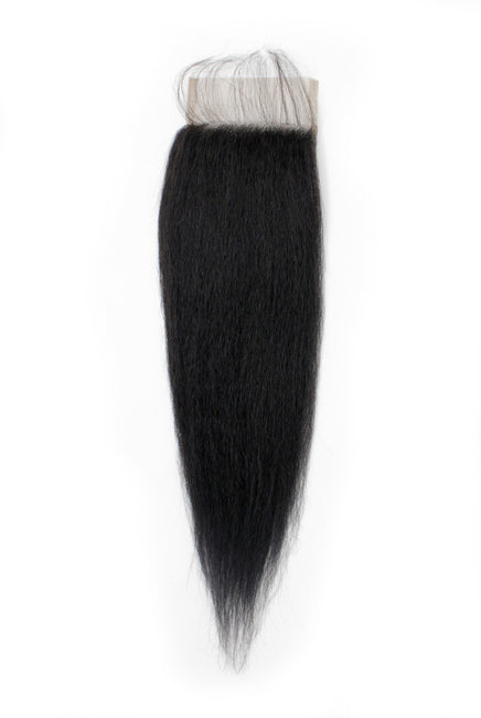 Virgin Brazilian Kinky Straight Lace Closure - True Glory Hair