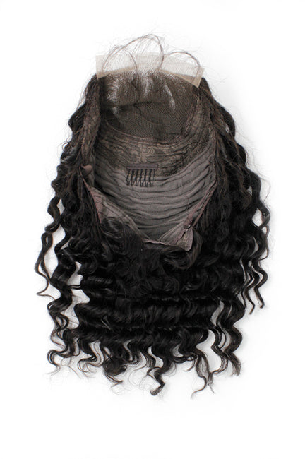 Virgin Brazilian Deep Wave Closure Bob Wig - True Glory Hair