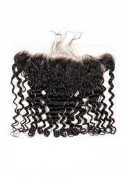 Virgin Brazilian Deep Wave Lace Frontal - True Glory Hair