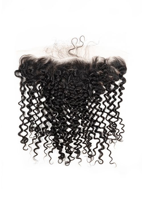 Virgin Brazilian Kinky Curly Lace Frontal - True Glory Hair