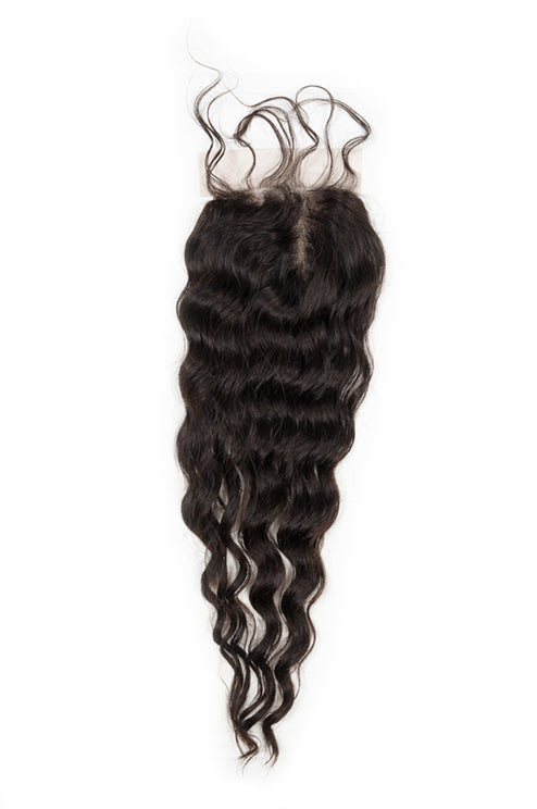 Virgin Indian Deep Wave Closure - True Glory Hair