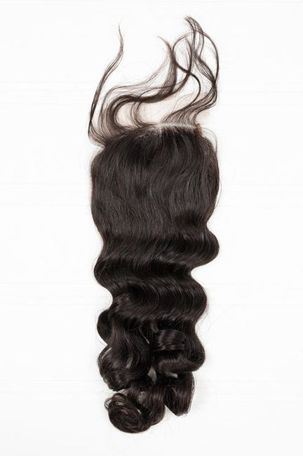 Virgin Brazilian Loose Wave Lace Closure - True Glory Hair
