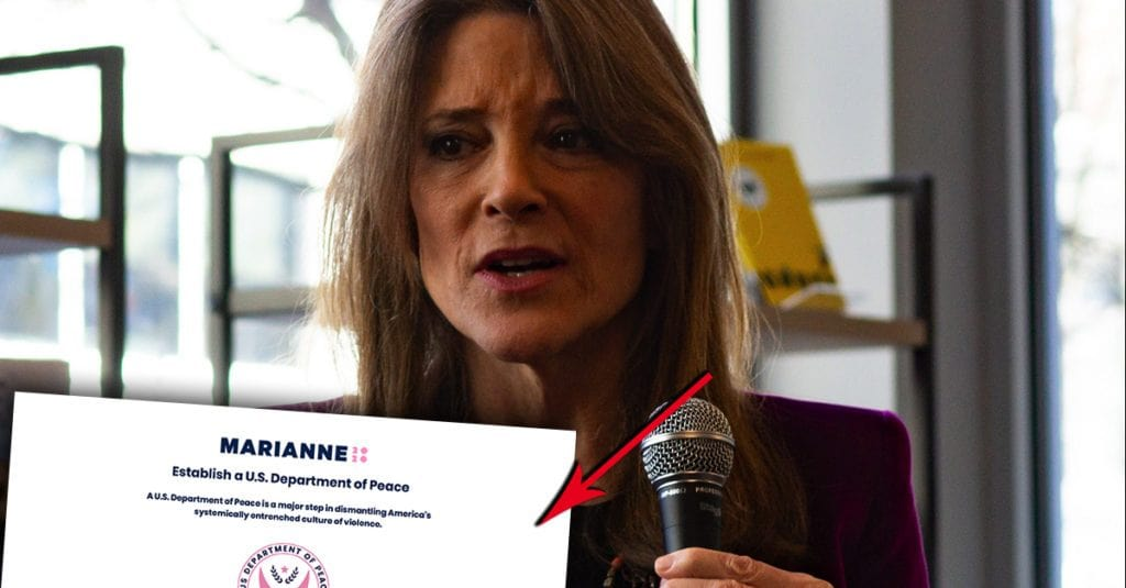 Marianne Williamson Wants Everlasting War In MidEast