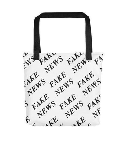 Black & White Fake News Tote bag