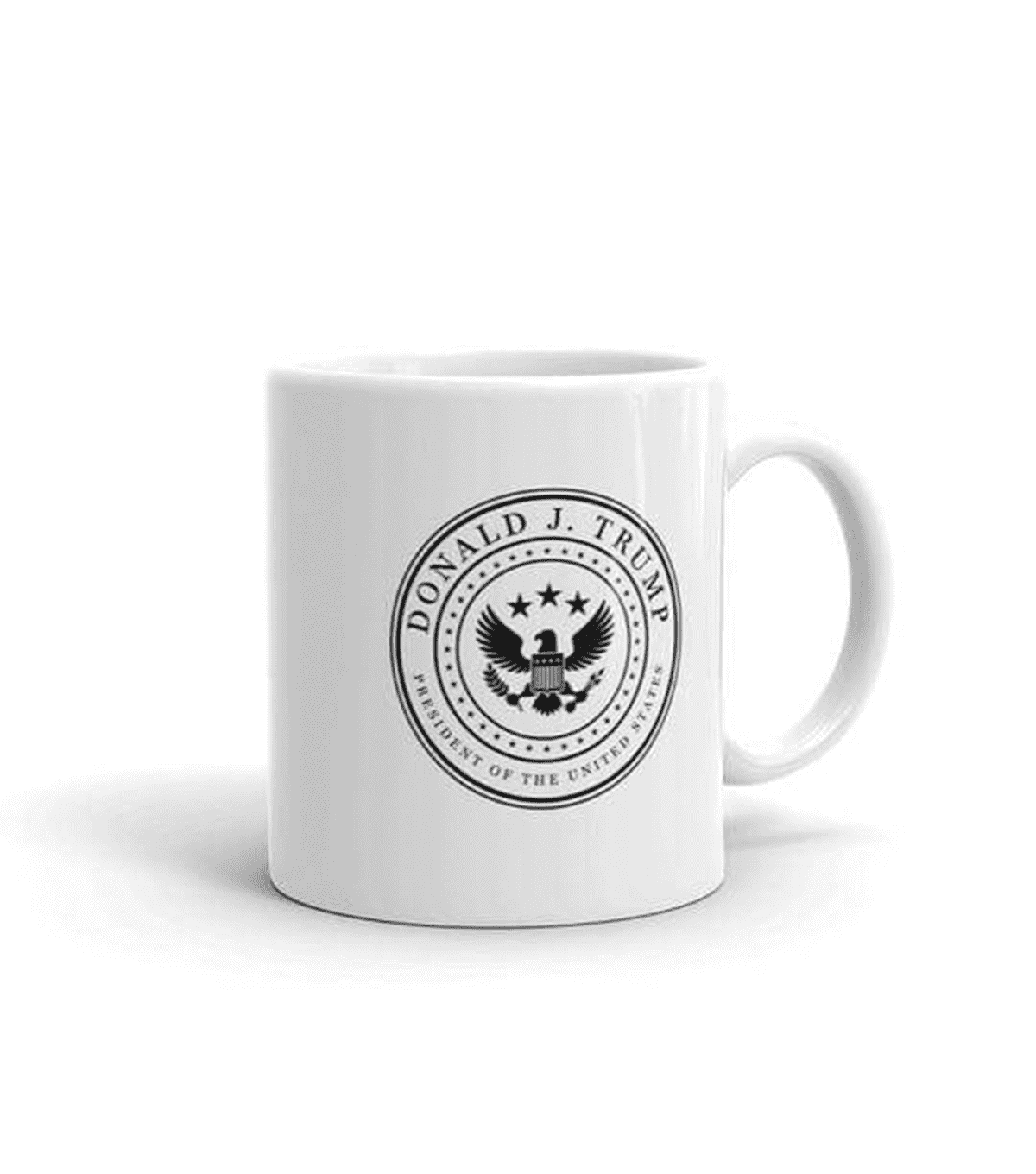 White & Black Presidential Coffee Mug