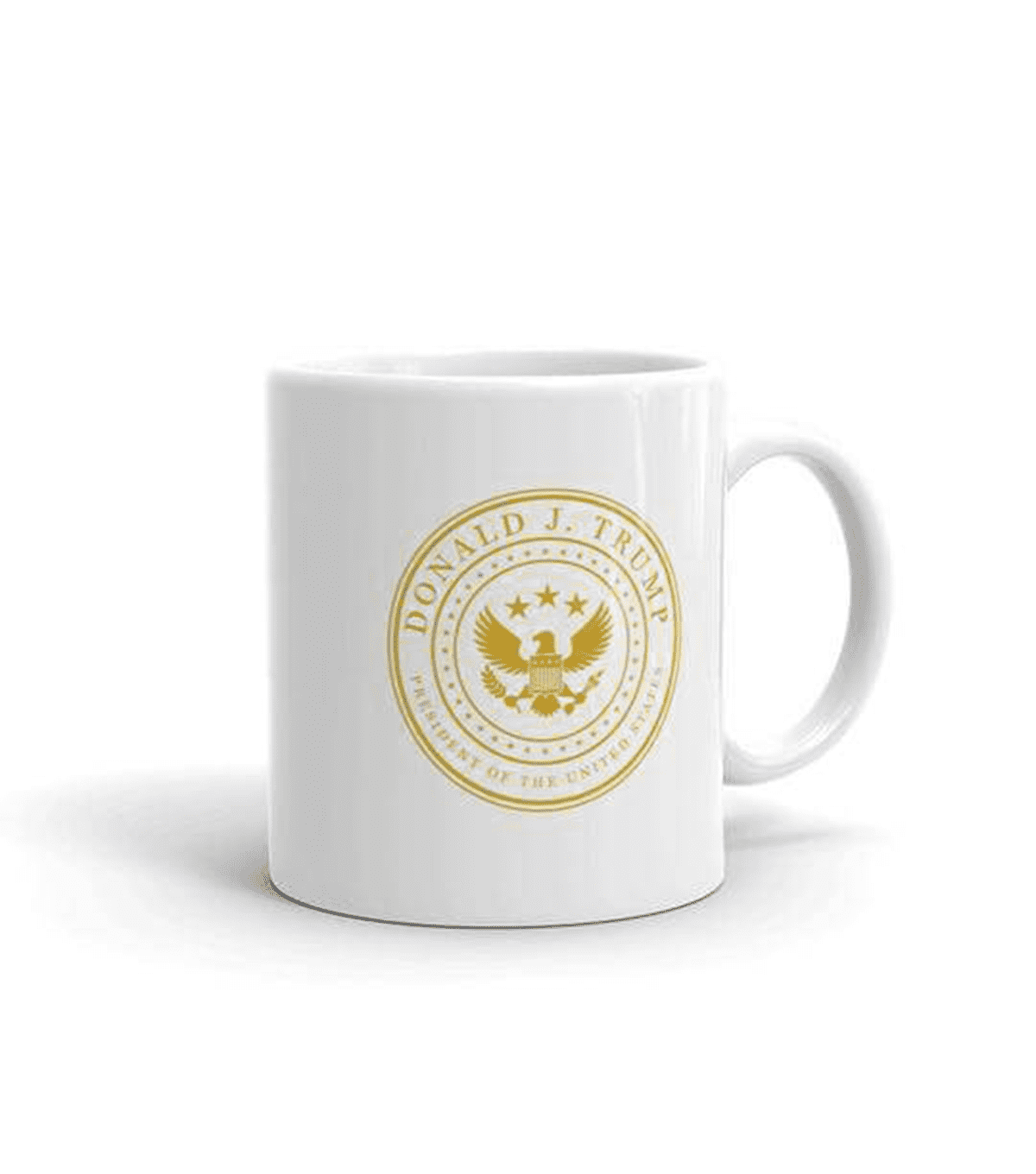 White & Gold Presidential Coffee Mug