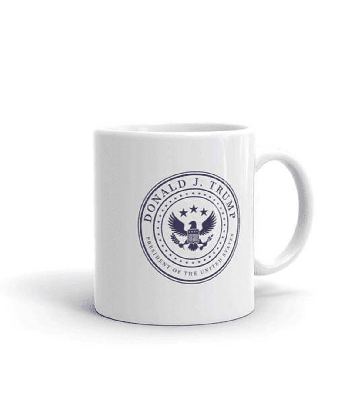 White & Navy Presidential Coffee Mug