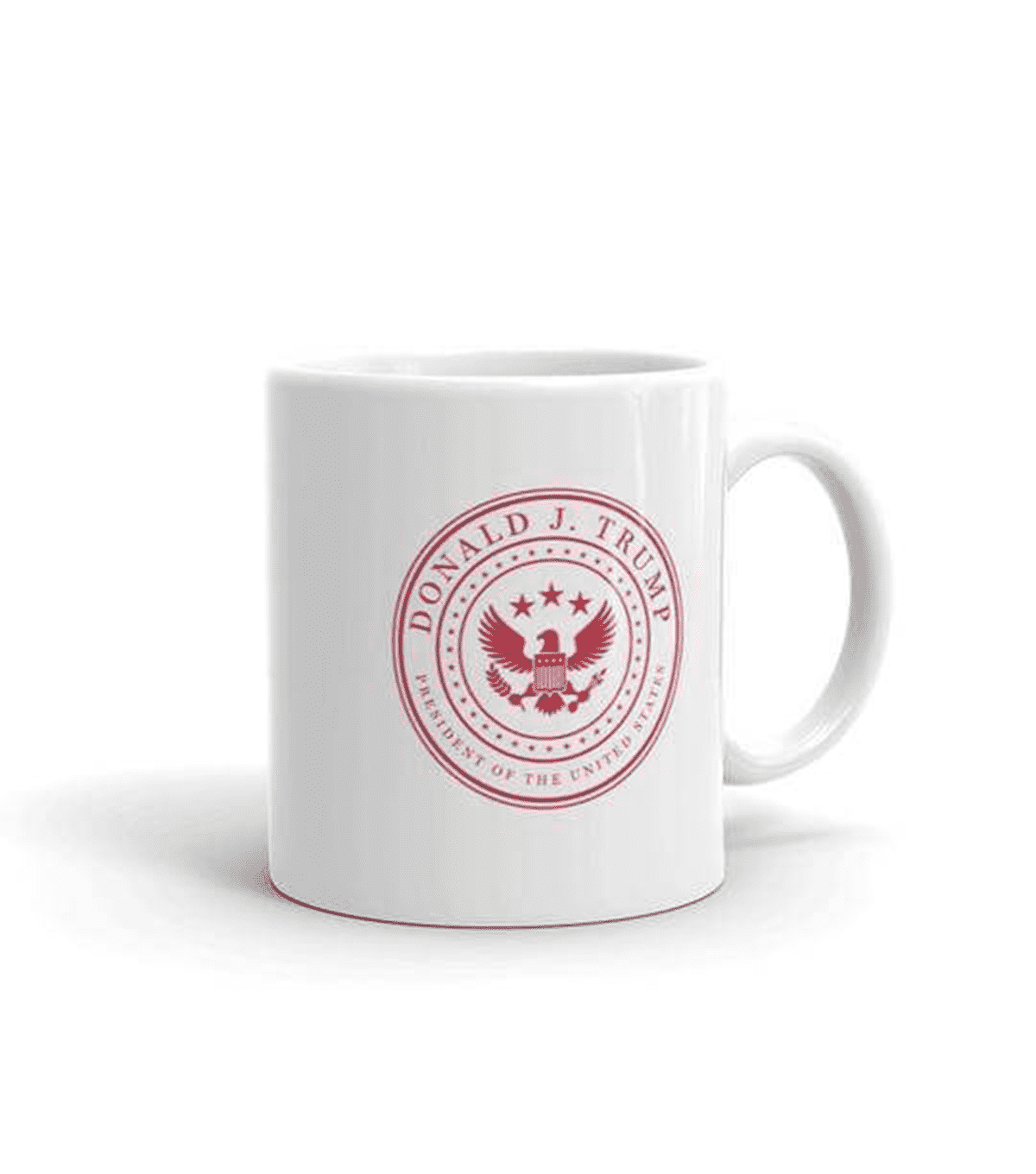 White & Red Presidential Coffee Mug