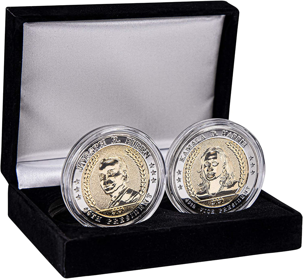 Joe Biden & Kamala Harris Presidential Commemorative 24k Gold Coin Set