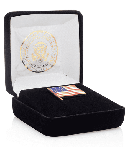 Donald J. Trump Presidential American Flag Lapel Pin