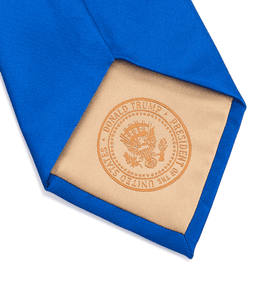 Donald J. Trump Signature Blue Neck Tie