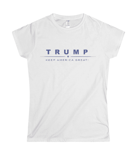 Trump Keep America Great Women's White T-Shirt