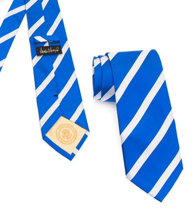 Donald J. Trump Signature Blue Striped Neck Tie