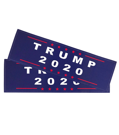 Trump 2020 Blue Campaign Bumper Sticker 2-Pack