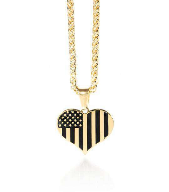 Melania Trump American Heart Necklace