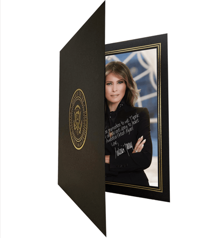 Melania Trump Custom Personalized Signature Portrait