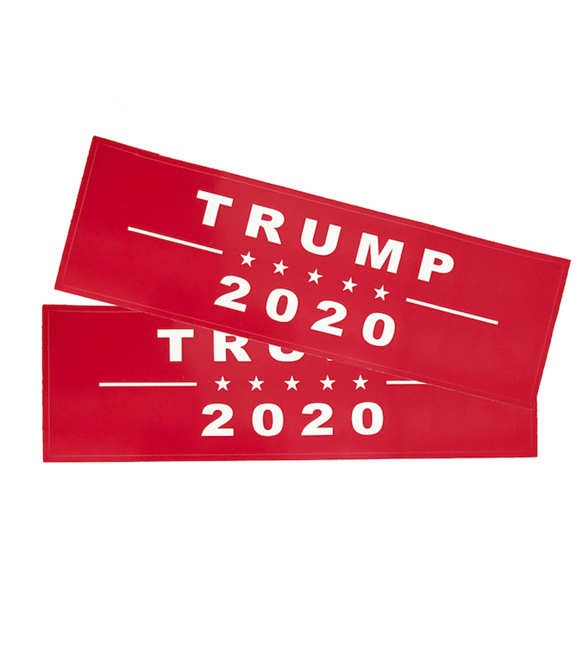Trump 2020 Red Campaign Bumper Sticker 2-Pack