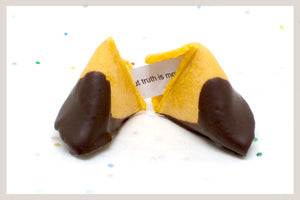 50 Dark Chocolate Dipped Fortune Cookies