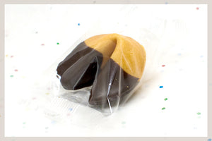 350 Dark Chocolate Dipped Fortune Cookies