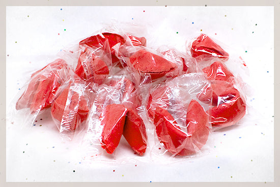 100 Strawberry Fortune Cookies