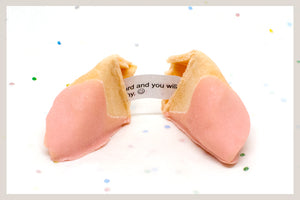 1,500 Strawberry White Chocolate Dipped Fortune Cookies