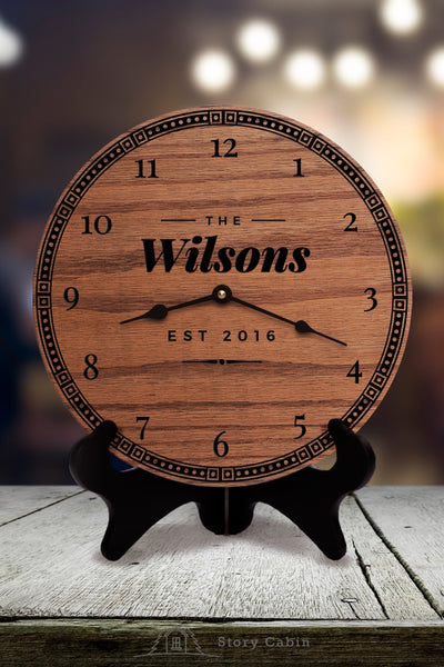 Fresh Retro Clock - personalized gifts for wedding anniversary housewarming baby - 1