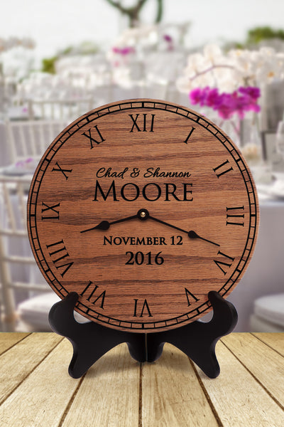Together Bliss Clock - personalized gifts for wedding anniversary housewarming baby - 1
