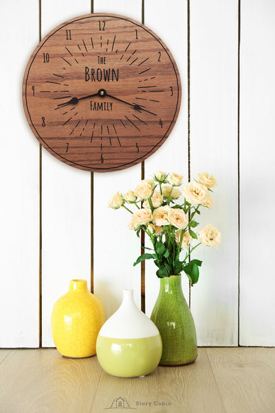 Forever Sunshine Clock - personalized gifts for wedding anniversary housewarming baby - 1