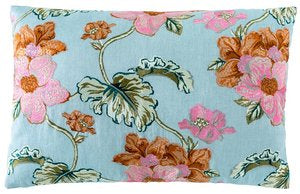 Bouquet Cushion Sea Mist 40 x 60cm