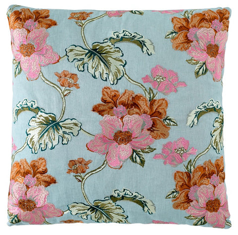 Bouquet Cushion Sea Mist 50 x 50cm