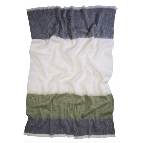 The Picnic Stripe Alpaca Blanket - Sage