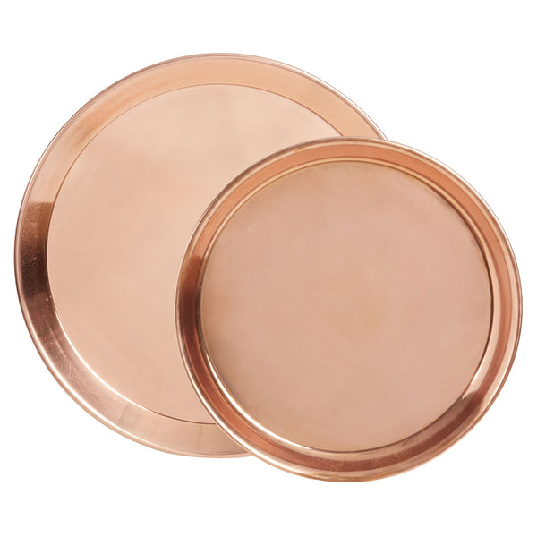Bazaar Copper Tray Set of 2