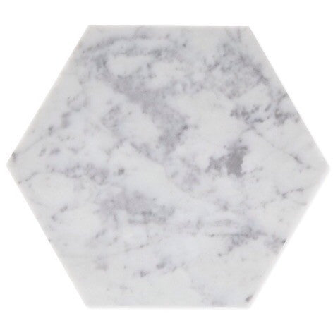 Hexagon Carrara Trivet