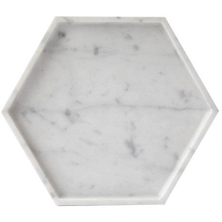 Hexagon Carrara Tray