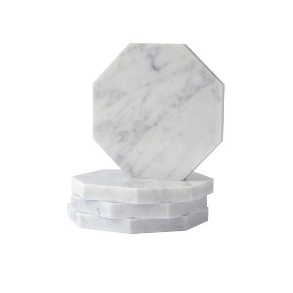 Octagon Carrara Coasters