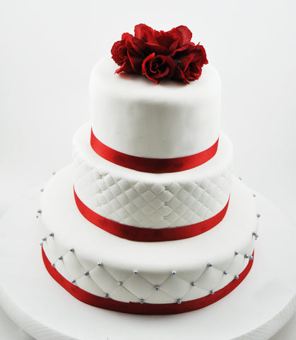 Traditional Fondant Wedding Cake