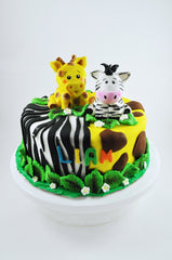 Safari Themed Fondant Cake