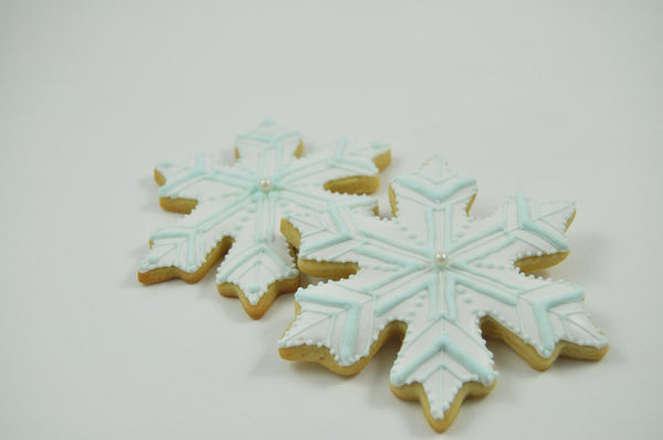 Large Snowflake - One Dozen Light Blue