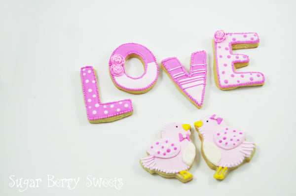 Valentine's Day Pink LOVE Birds - Half Dozen