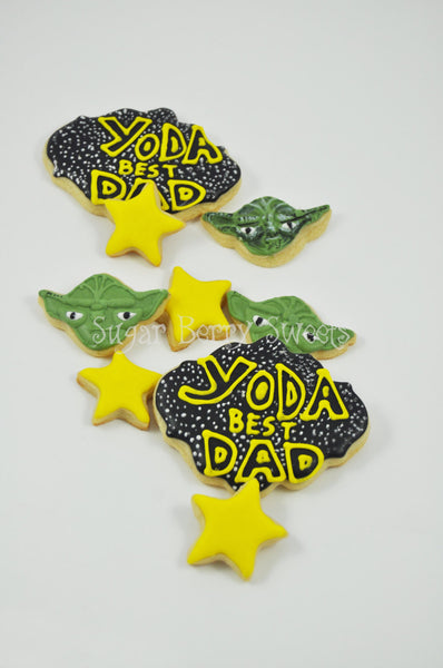 Father's Day Star Wars Cookies - One Dozen