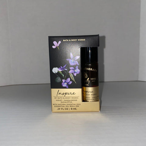 Bath & Body Works Inspire Violet Sandalwood Eucalyptus Essential Oil Roll On
