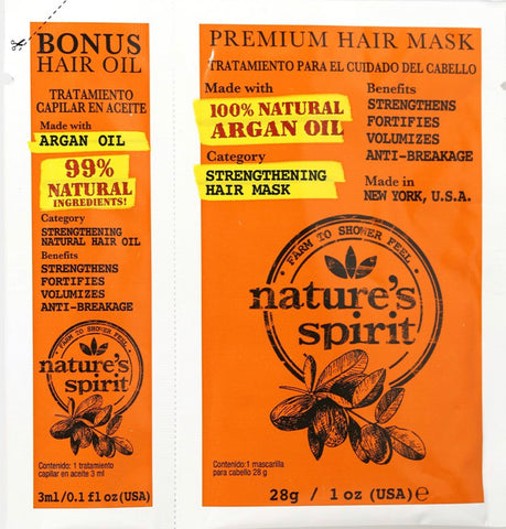 Nature's Spirit Hair Oil & Mask- Argan Oil