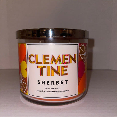 Bath & Body Works Clementine Sherbet  3 Wick Candle