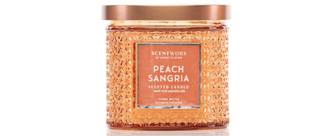 ScentWorx by Harry Slatkin Peach Sangria 14.5-oz. Special Edition Candle Jar